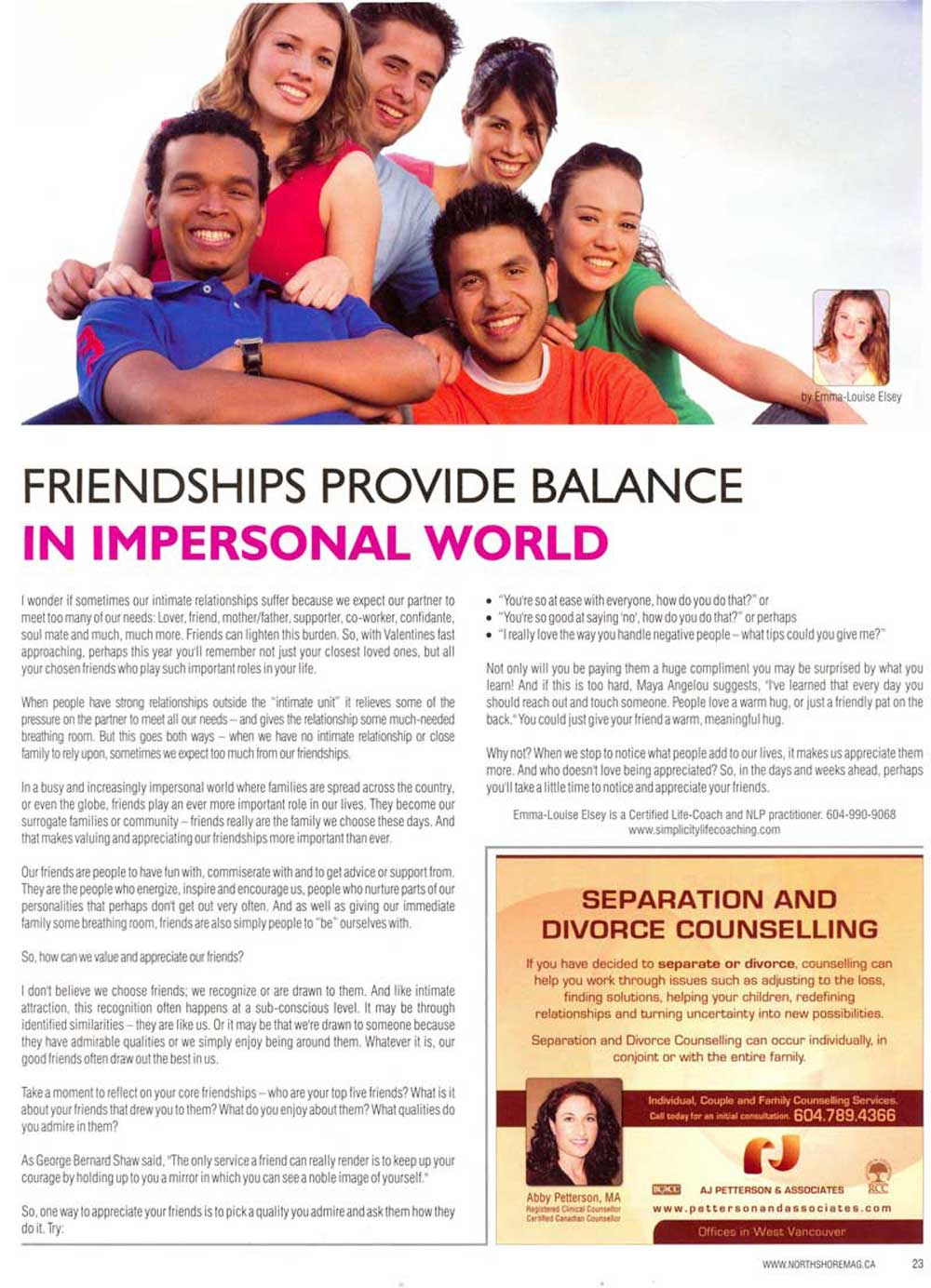 friendship articles